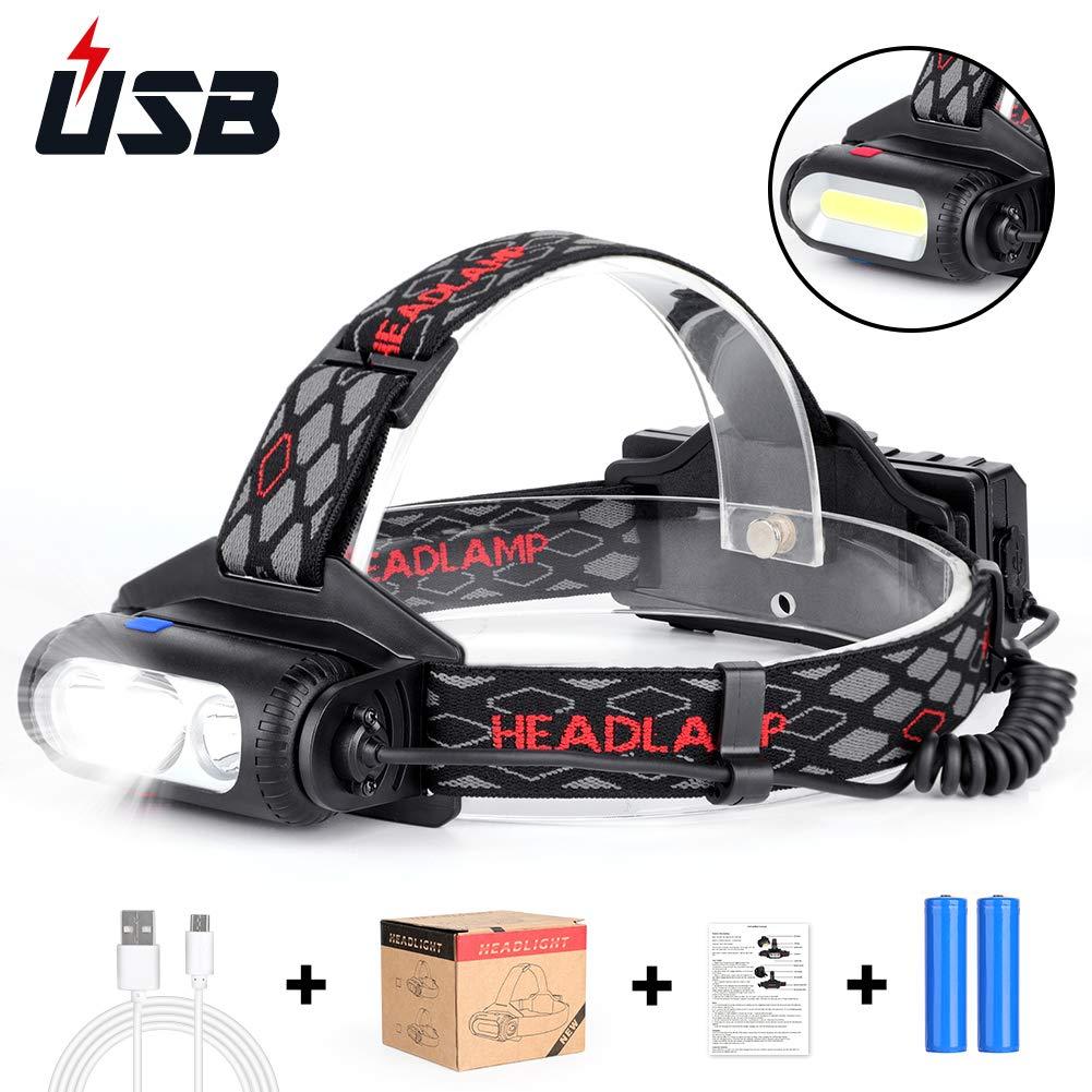 Haofy Stirnlampe LED Wiederaufladbar Kopflampe
