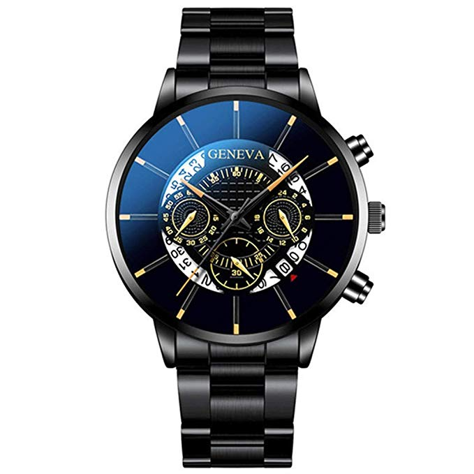 Mode Cool Unique Digital Literal Multi Layer Dial Männer Quarz Mesh Gürtel Business Watch Geschenk