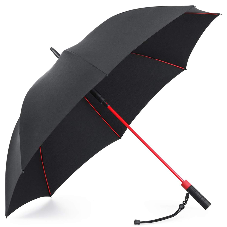Plemo Regenschirm, Hochwertiger Stylischer Stockschirm Golfschirm Partnerschirm