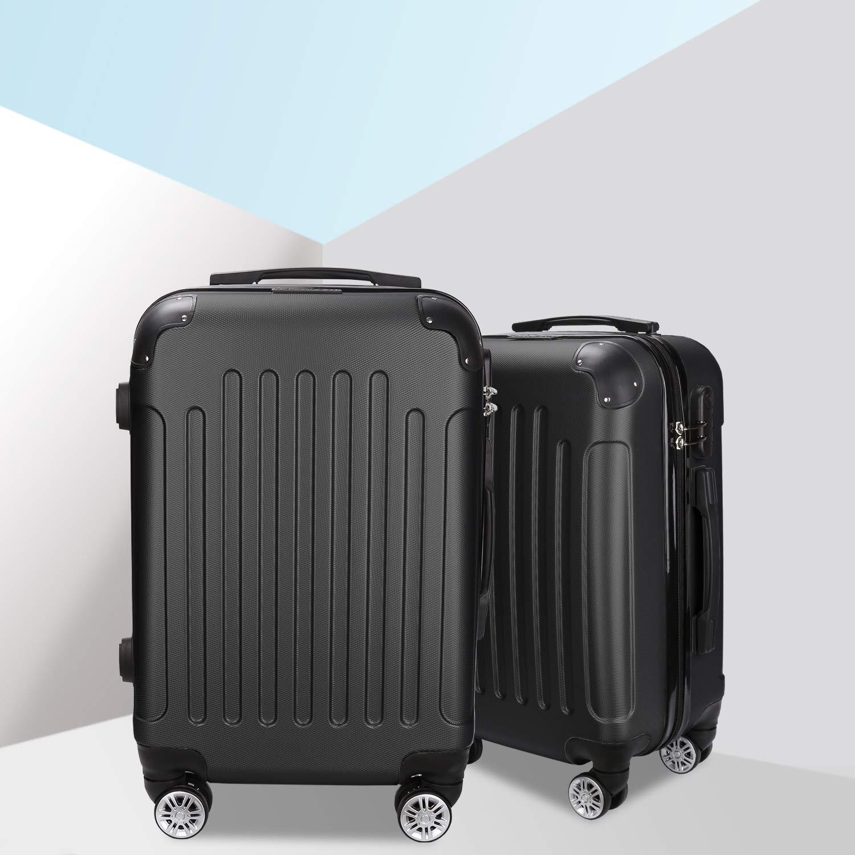 Tolletour Trolley Koffer mit Zahlenschloss ABS-Hartschale Alu-Teleskopgriff Hartschalenkoffer