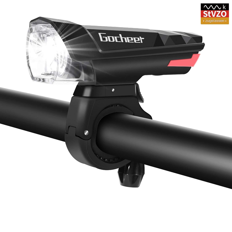 Gocheer LED Fahrradlicht, StVZO-Zulassung Fahrradbeleuchtung fahrradlichter USB Set