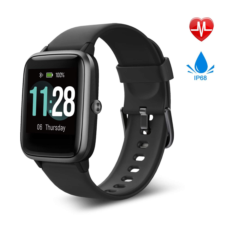 Fitpolo Smartwatch, Fitness Armband Voll Touchscreen 5ATM Wasserdicht
