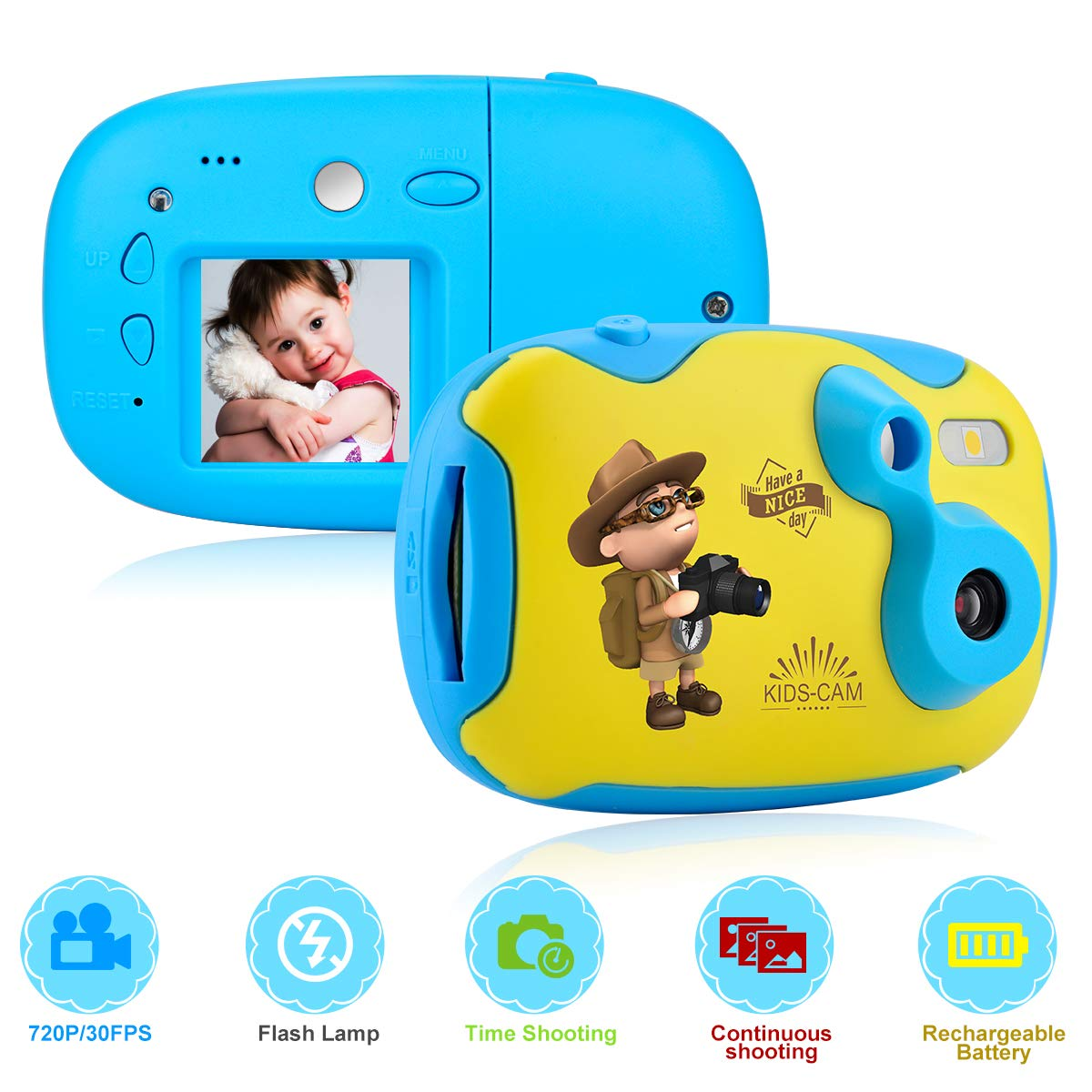 Kinderkamera Kinder Kamera Mini Nette Kamera für Kinder Mit 1,44 Zoll fotoapparat Kinder