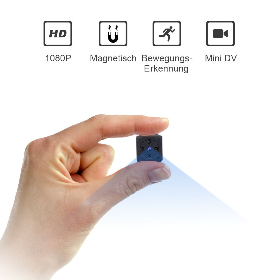 Mini Kamera,NIYPS Full HD 1080P Tragbare Kleine Überwachungskamera