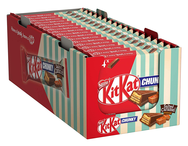 Nestlé KITKAT ChunKy Salted Caramel Fudge