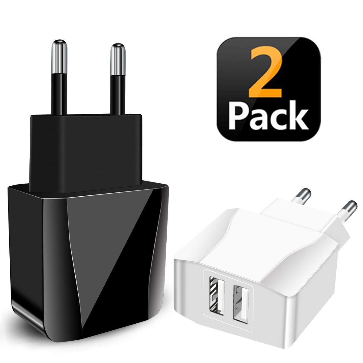 IceFrog USB Ladegerät USB Stecker 2 Pack 2-Port Netzteil 5V, Ladeadapter Adapter