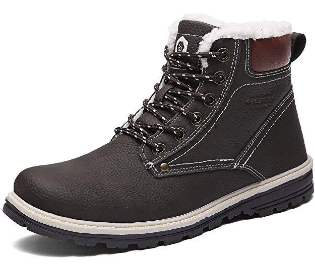 Sixspace Winterstiefel Warm Gefütterte Winterschuhe Outdoor Schneestiefel rutschfest Winter Boots