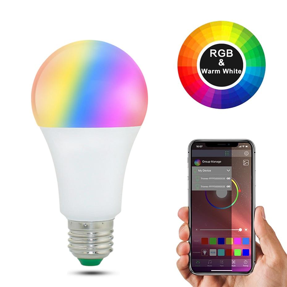 20 modi Dimmbare E27 RGB LED Intelligente Birne 15W Bluetooth Magie Lampe RGBW RGBWW Smart Lampe B22 Musik Steuerung gelten für IOS/Android