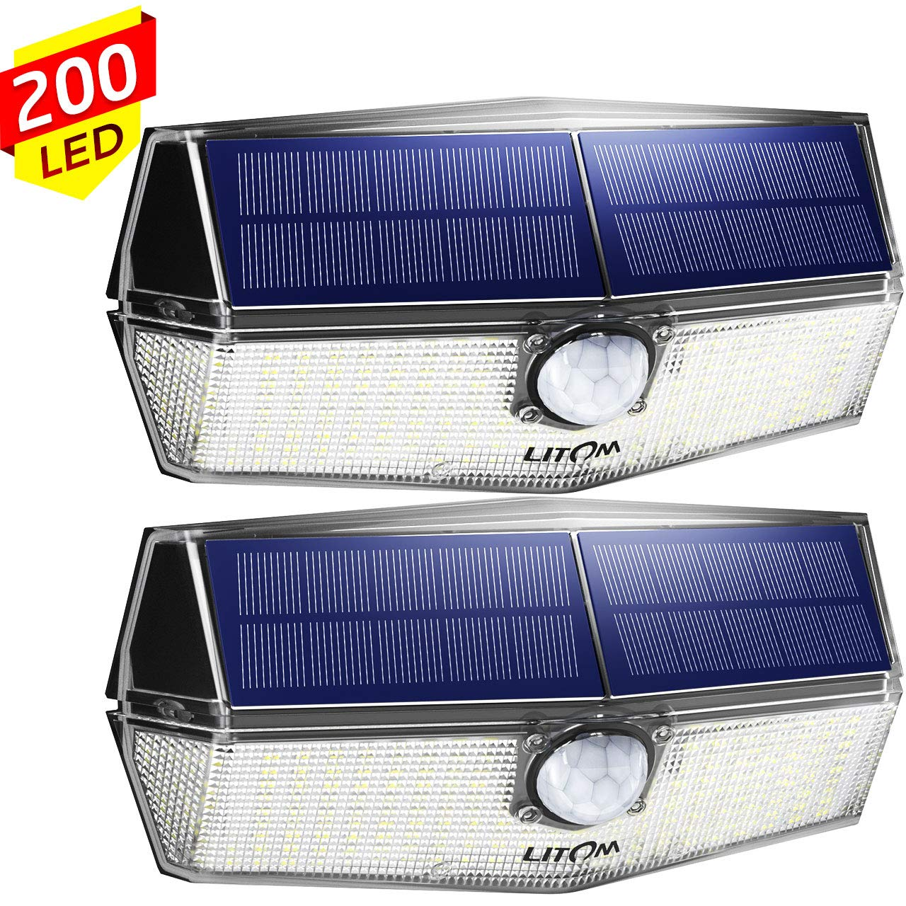 200 LED Solarlampen für außen【Neueste Version】LITOM Solarleuchten