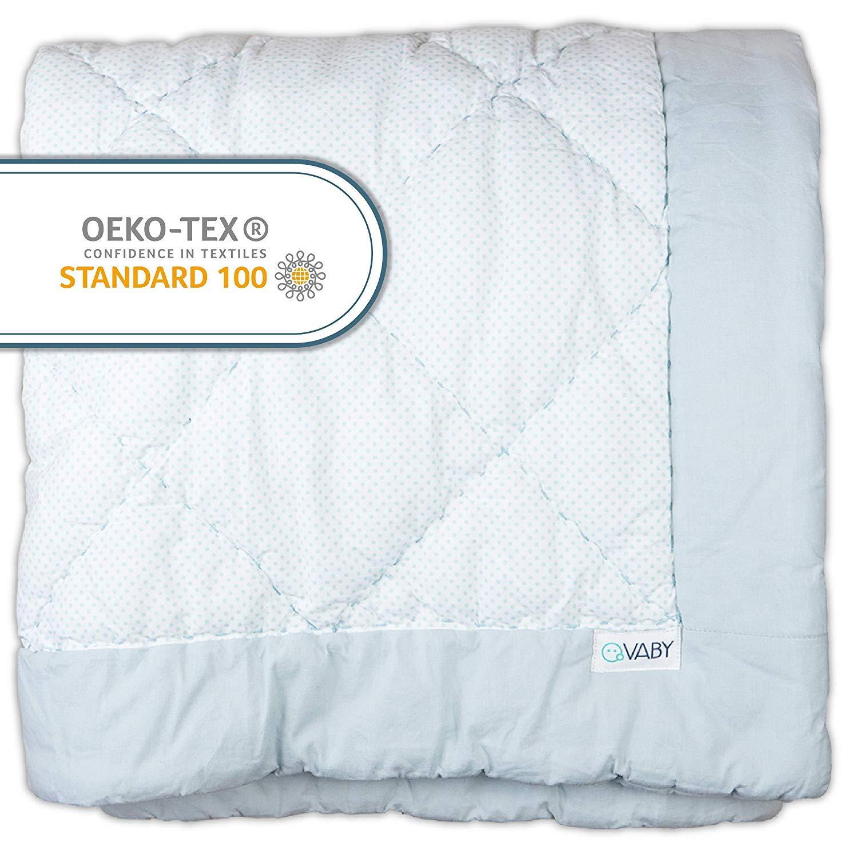 VABY – Krabbeldecke OEKO-TEX® (Türkis), aus Baumwolle 115×115 cm