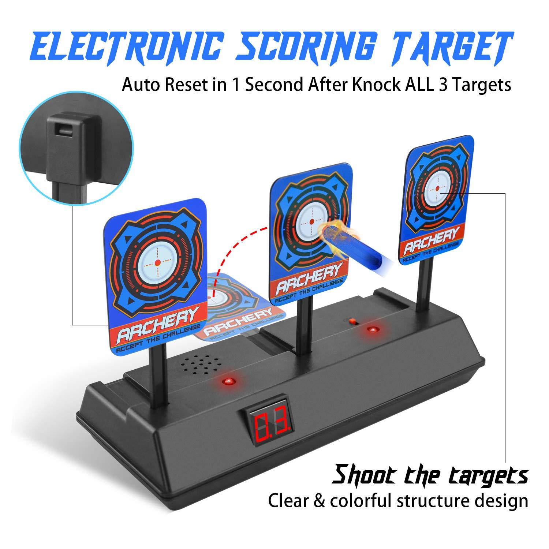 BOIROS Zielscheibe für Nerf, für Waffen der N-Strike Elite / Mega / Rival-Serie – Intelligentes