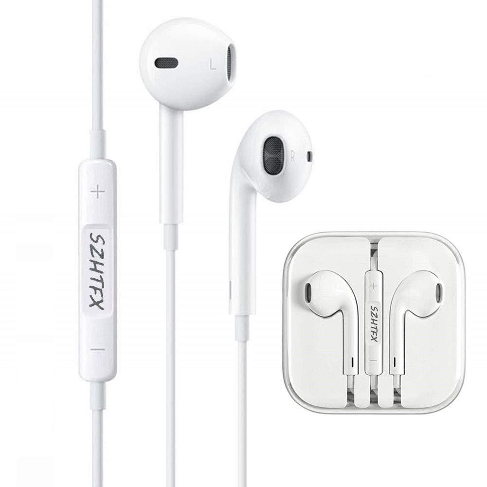 SZHTFX In Ear Kopfhörer, Kopfhörer mit Mikrofon und Lautstärkeregler Ear Ohrhörer