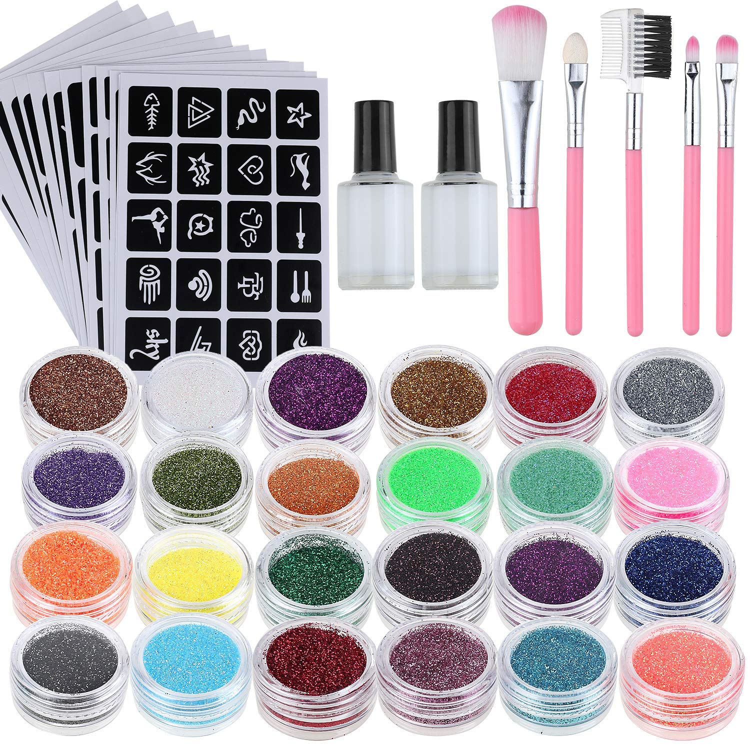 Lictin Glitzer Tattoo Halloween Glitzer Tattoo Neues Glitzer Tattoo Set