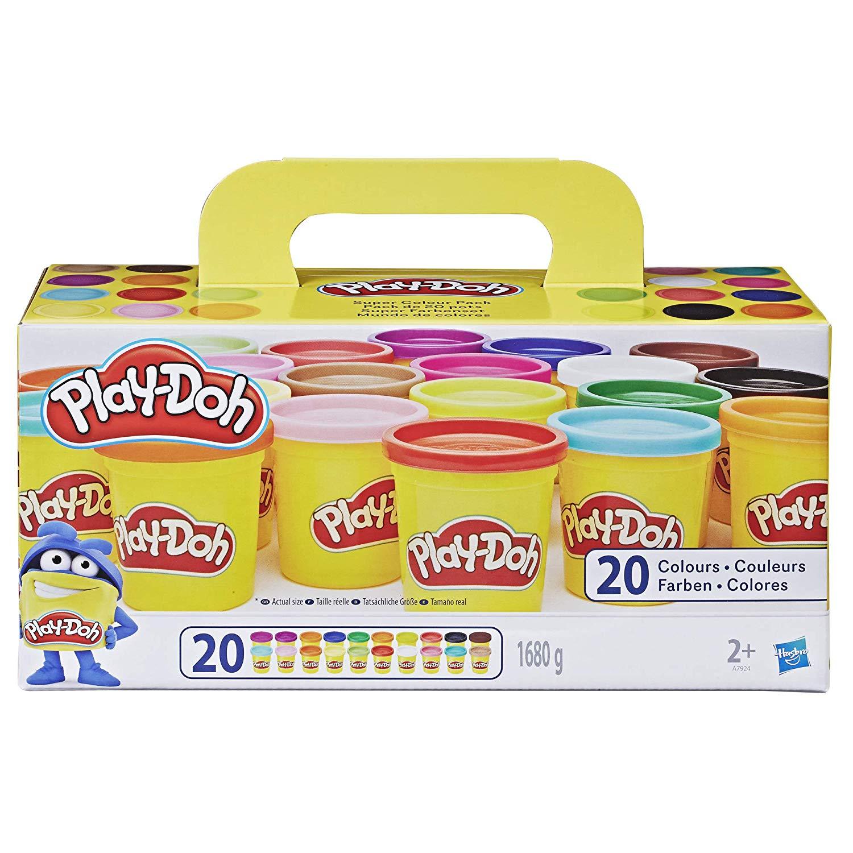 Play-Doh Super Farbenset (20er Pack), Knete für fantasievolles und kreatives Spielen