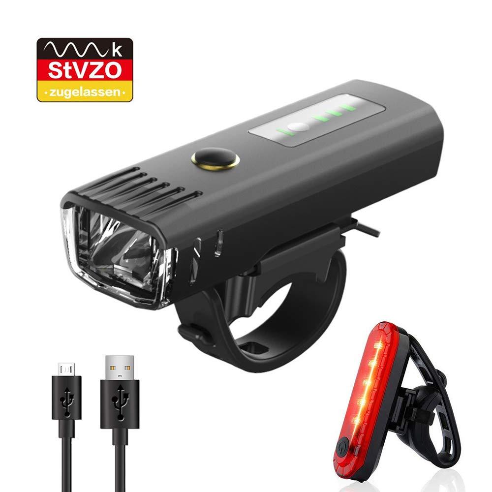 Pezimu Fahrradlicht LED Fahrradbeleuchtung Set