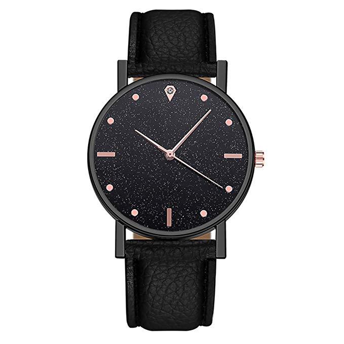 Quarzuhr für Damen Edelstahl Zifferblatt lässig Elegante Armbanduhr viele Farben