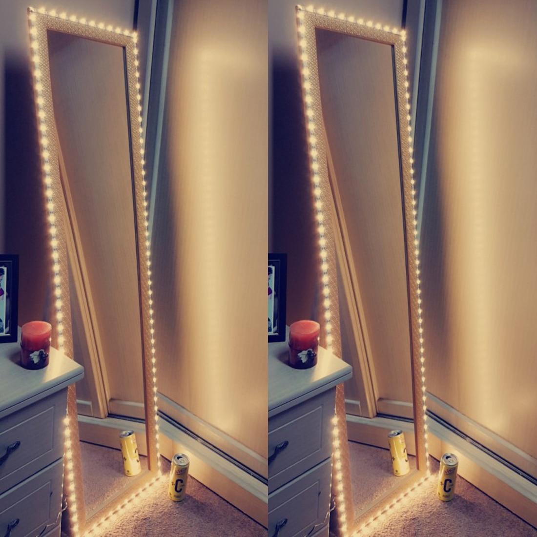 Eitelkeit Make-Up-Spiegel Licht 5V USB LED Flexible Band USB Kabel Powered Dressing spiegel Lampe Decor