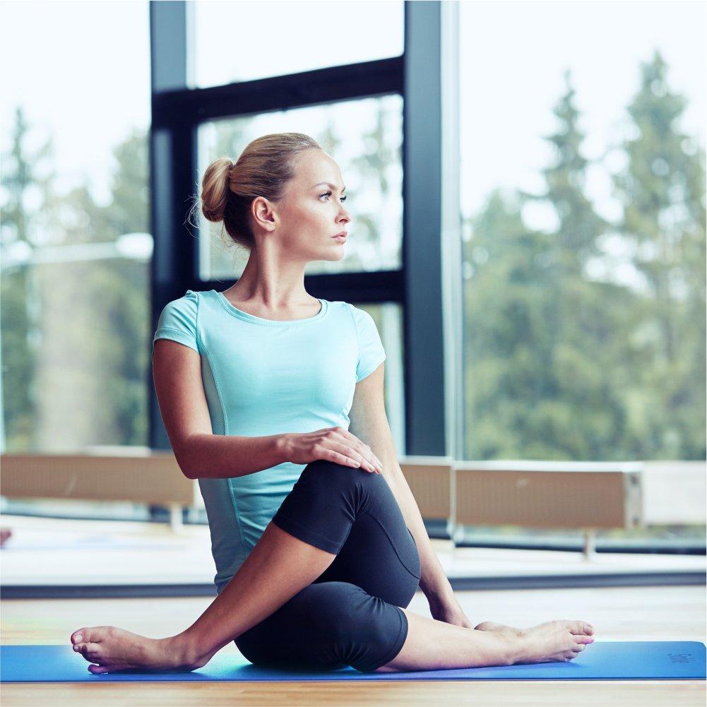 Sable Yogamatte rutschfeste Fitnessmatte 6 mm Dicke