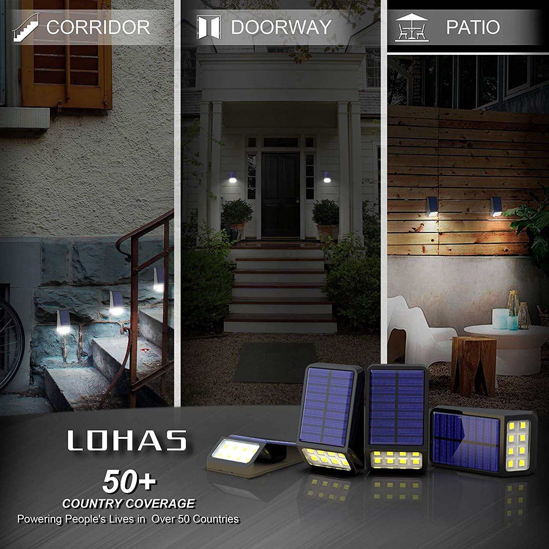 LED Solarleuchten Zaun, LOHAS 8 LEDs Solarleuchte Garten, Solar Zaunbeleuchtung