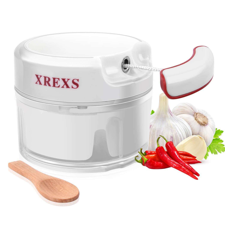 XREXS Mini Zwiebelschneider Manuell – Mini Küchenmaschine