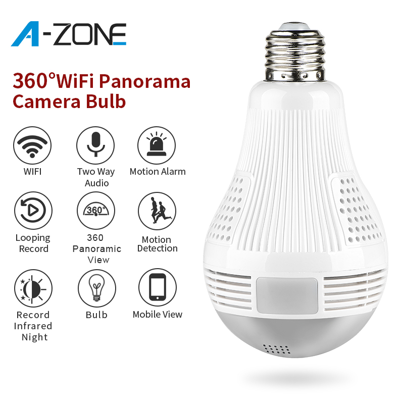 A-ZONE HD 1080P Home Security IP Wifi Kamera