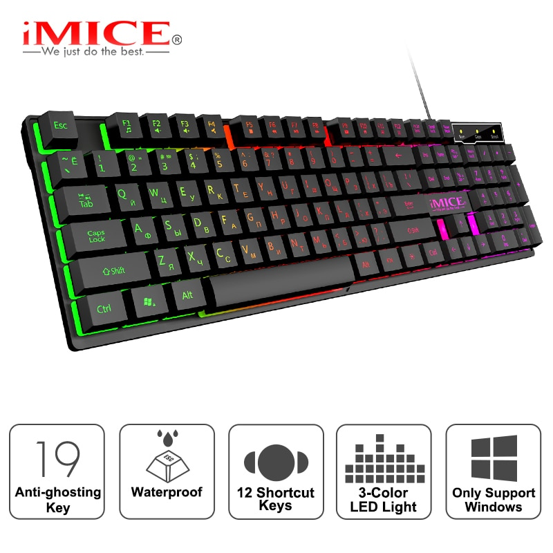 Gaming tastatur Gamer tastatur mit hintergrundbeleuchtung