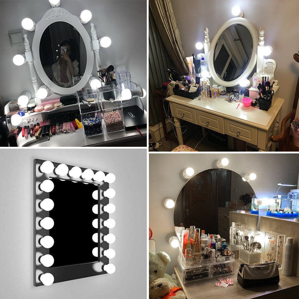 Wand Lampe LED 16 W Make-Up Spiegel Eitelkeit Led-lampen Hollywood Stil