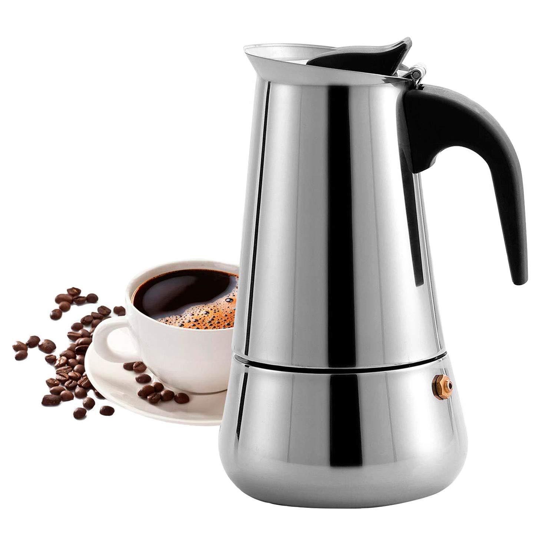 MAJALiS Espressokocher Induktion Geeignet,Espressokanne Edelstahl