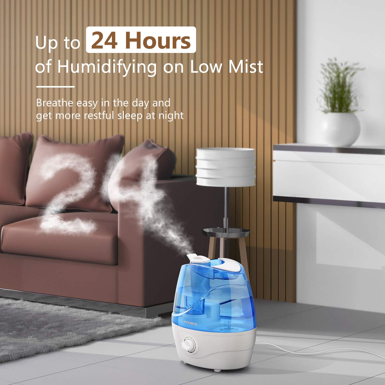 VicTsing Luftbefeuchter, Ultraschall-Luftbefeuchter