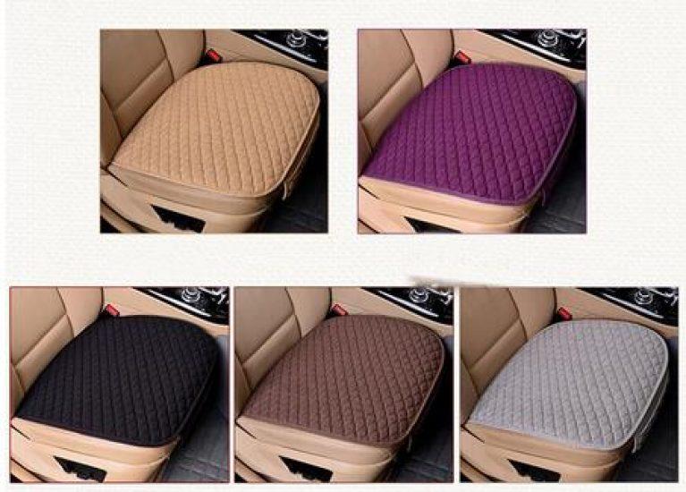 Leinen Stoff Auto Sitz Abdeckung Vier Jahreszeiten Vorne Hinten Flachs Kissen Atmungsaktive Protector Mat
