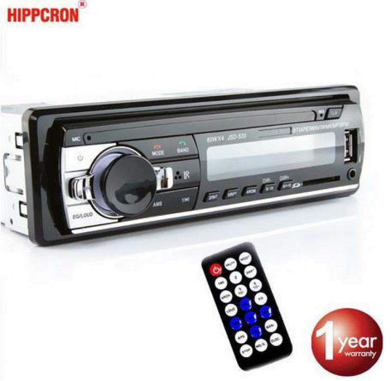 Hippcron Auto Autoradio MP3 Player Digital Bluetooth FM Audio Musik USB/SD mit In Dash AUX Eingang