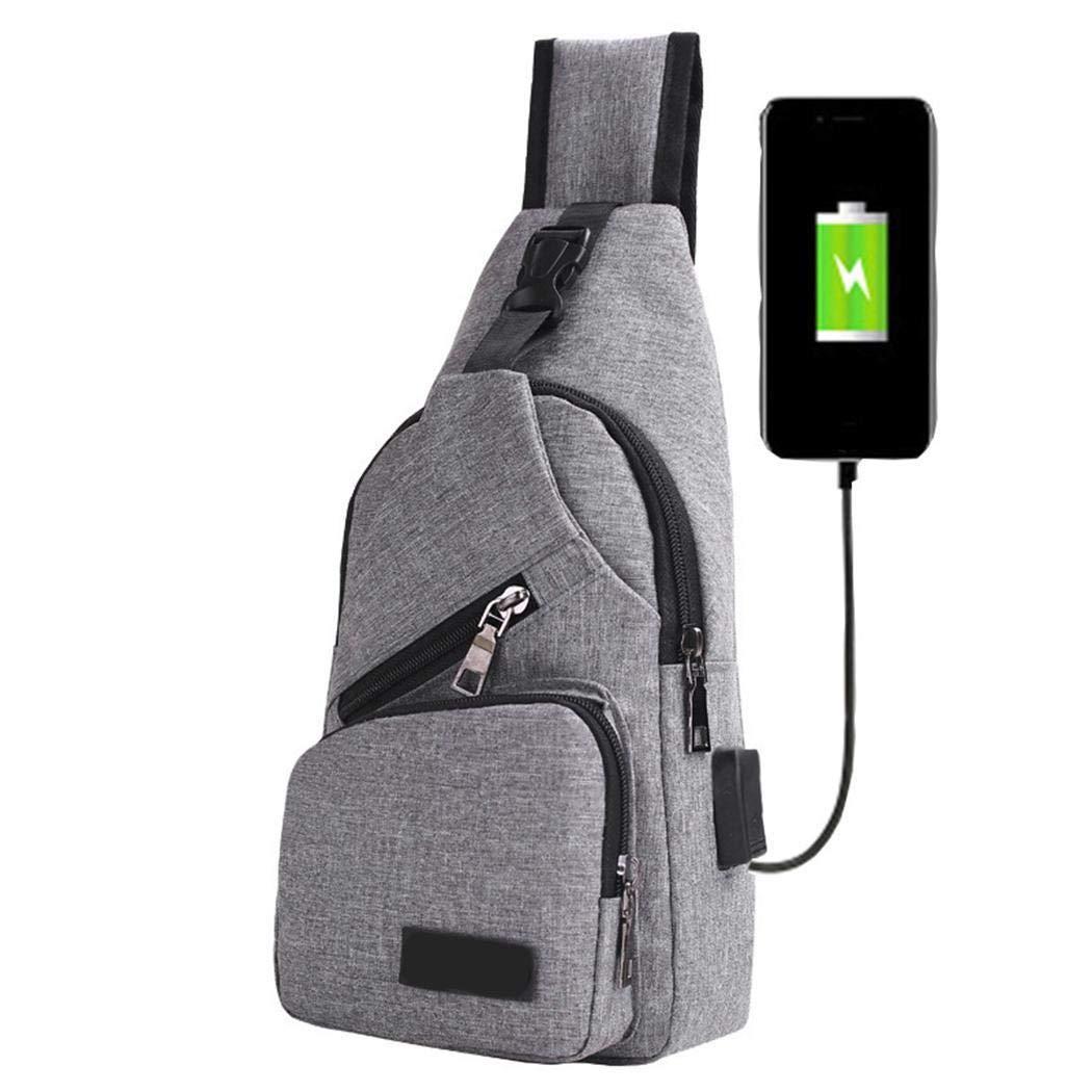 80% Rabatt Adolenb Schultertasche – Brusttasche mit USB-Ladeanschluss, Crossbody-Anschluss