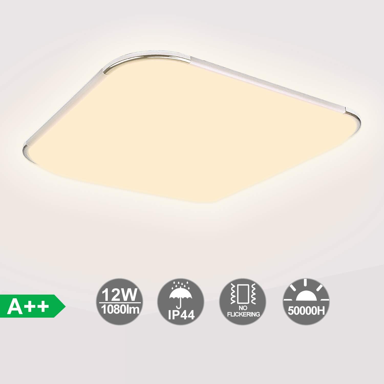 Hengda 12W LED Deckenleuchte Bad, 1080LM Badezimmerleuchte