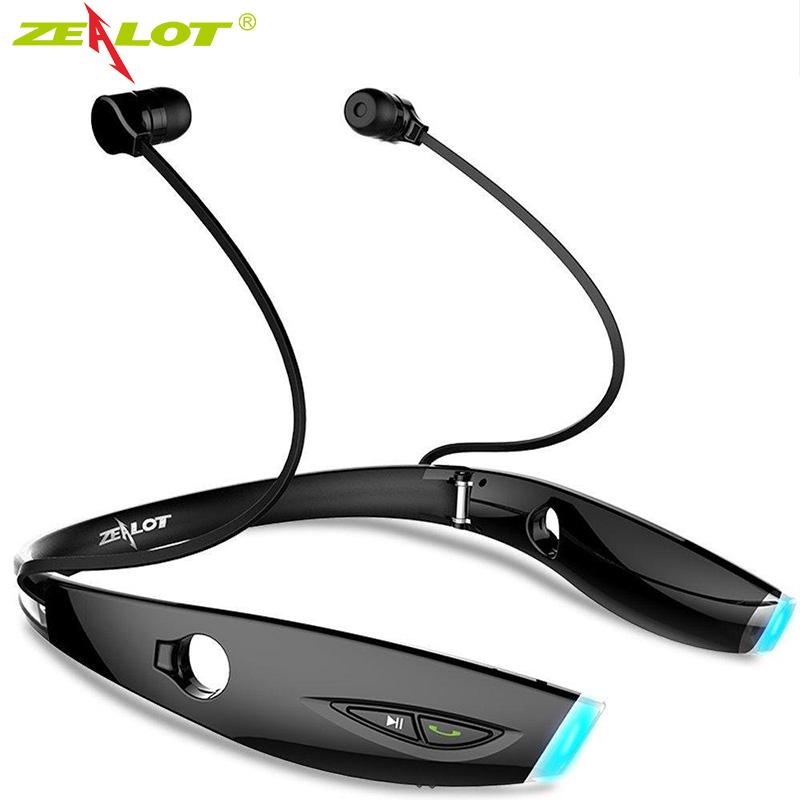 ZEALOT H1 Drahtlose Sport Kopfhörer Wasserdichte FALTBARE Tragbare Bluetooth Headset mit Mikrofon