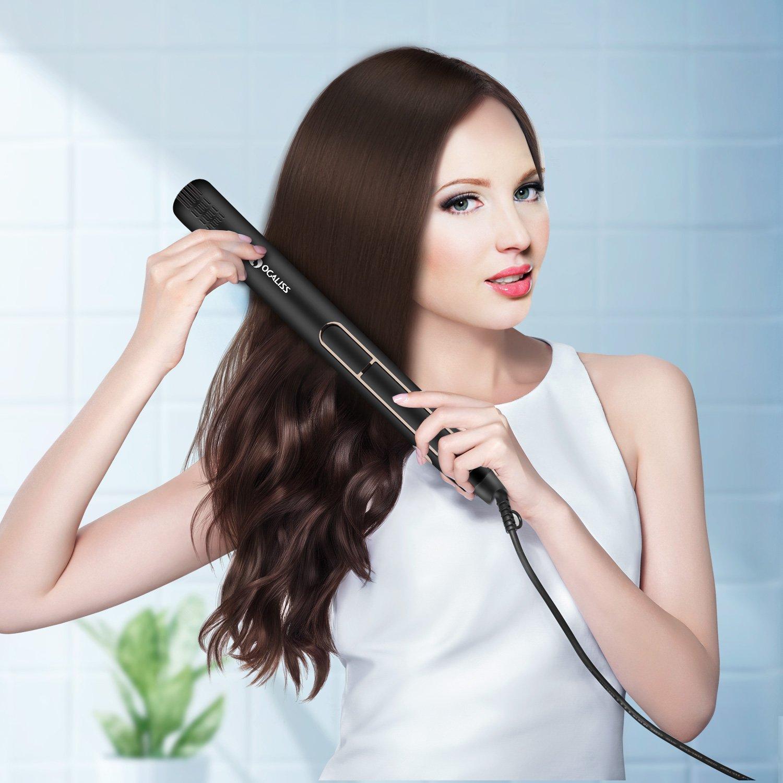 OCALISS Professionelle Haarglätter aus Titanium, 30er-Jahre heiß, einstellbare Temperatur