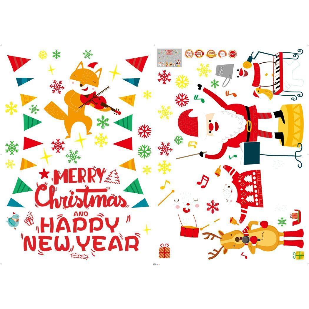80% off Weihnachten Weihnachtsmann Film Removable Dekorative Fenster Wandaufkleber Tapeten