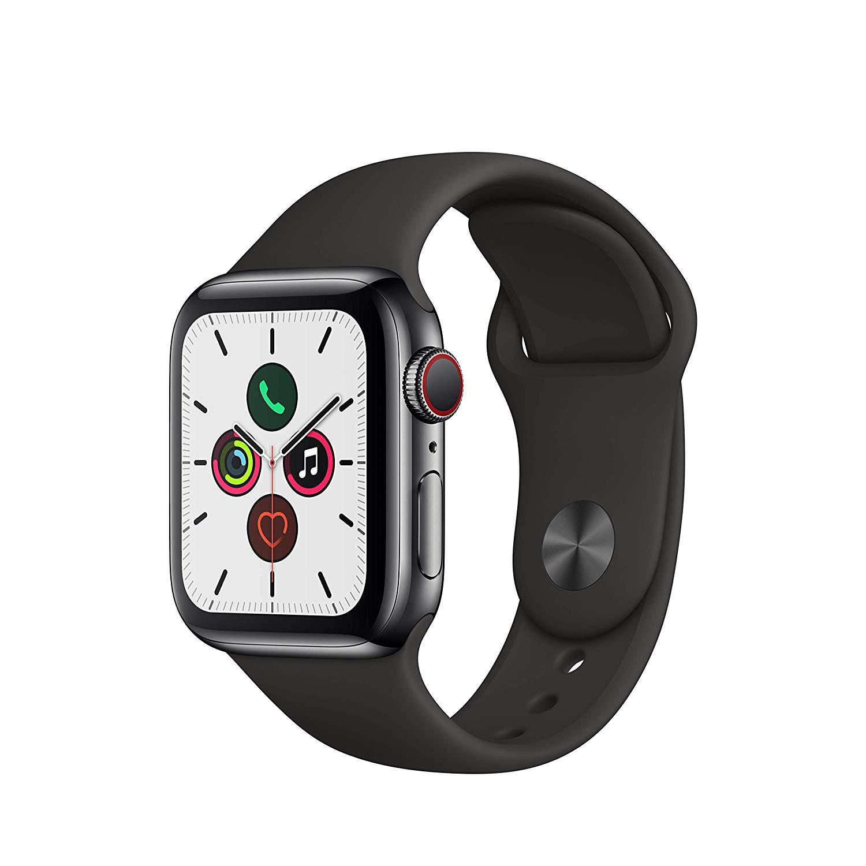Apple Watch Series 5 (GPS + Cellular, 40 mm) Edelstahlgehäuse Space Schwarz