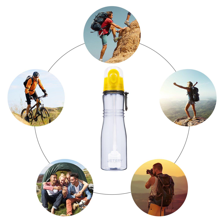 JETERY Sport Wasserflasche Filter Outdoor Wasserfilterflasche 680ml