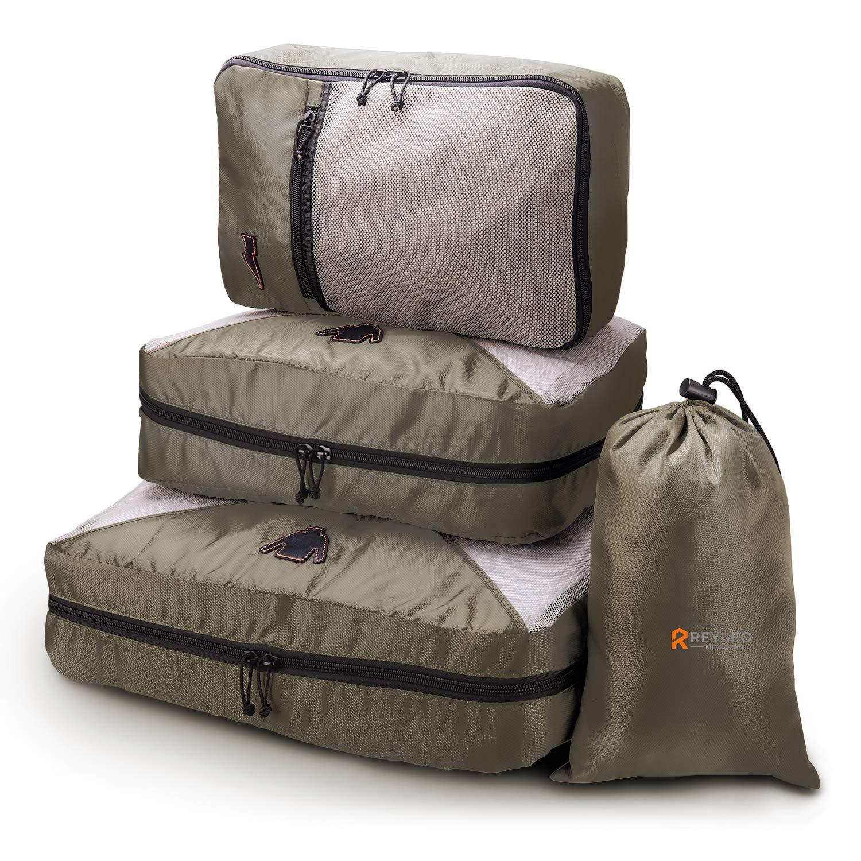 REYLEO Packing Cubes, Kleidertaschen für Reise, Ideale Packtasche
