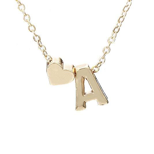 Frauen Mädchen Halskette Liebe Herz 26 Buchstaben Herz Choker Kette Anhänger Lady Halsketten Schmuck Geschenk