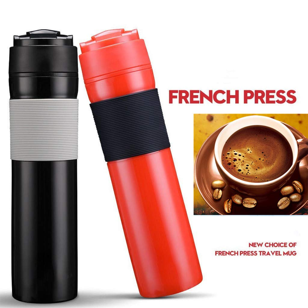 Eaylis Tragbare French Press Kaffeemaschine Travel Mug Manual Patent Plunger Reisen Tasse