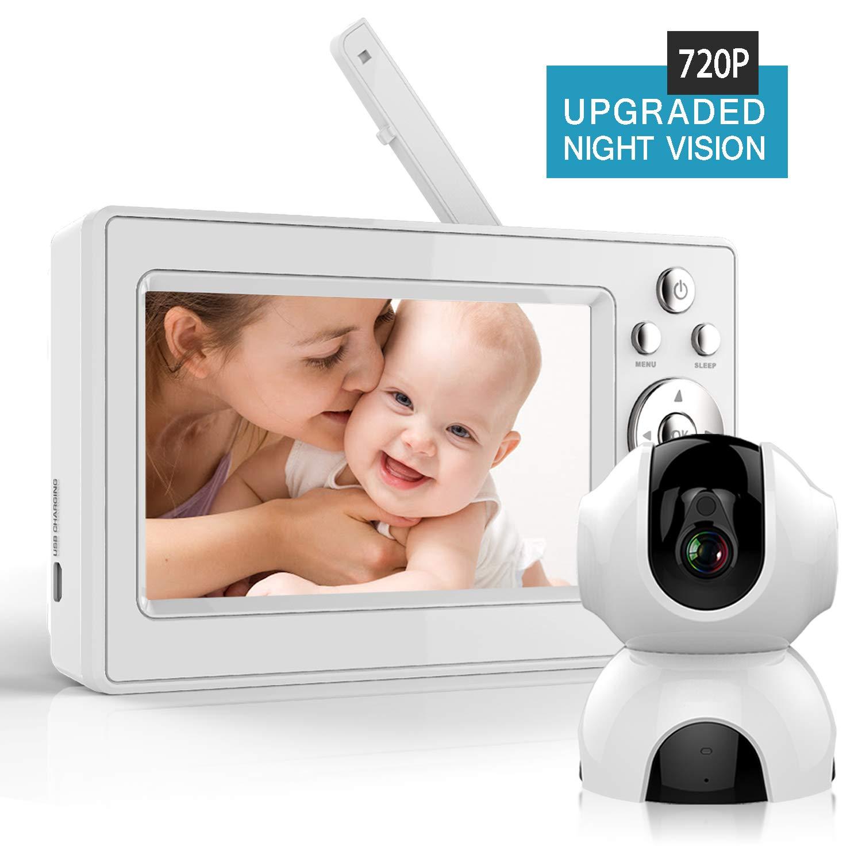 Bable Babyphone mit Kamera, 720P 5 Zoll Video Babyfon mit Infrarotkamera