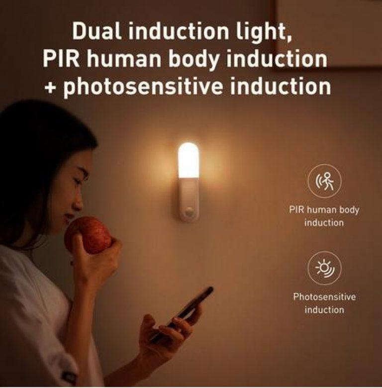 Baseus LED Innen Licht Wand Lampe PIR Motion Sensor Menschlichen Induktion Eingang & Gang Leuchte Nacht Licht