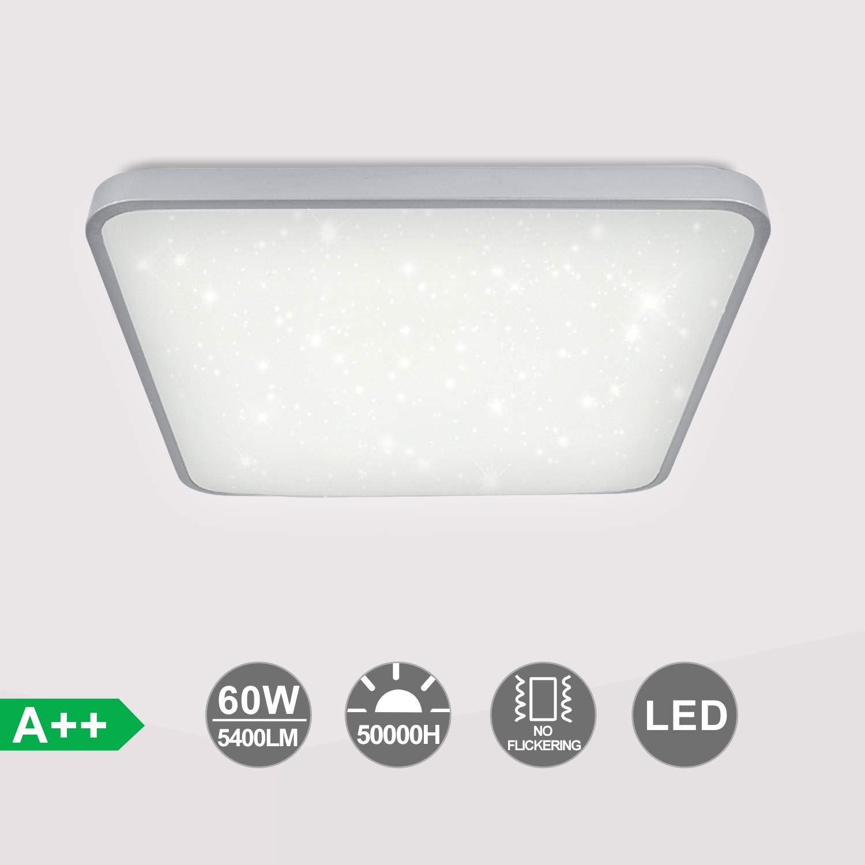 VINGO LED Deckenleuchte, 60W Weiß Wohnzimmerlampe