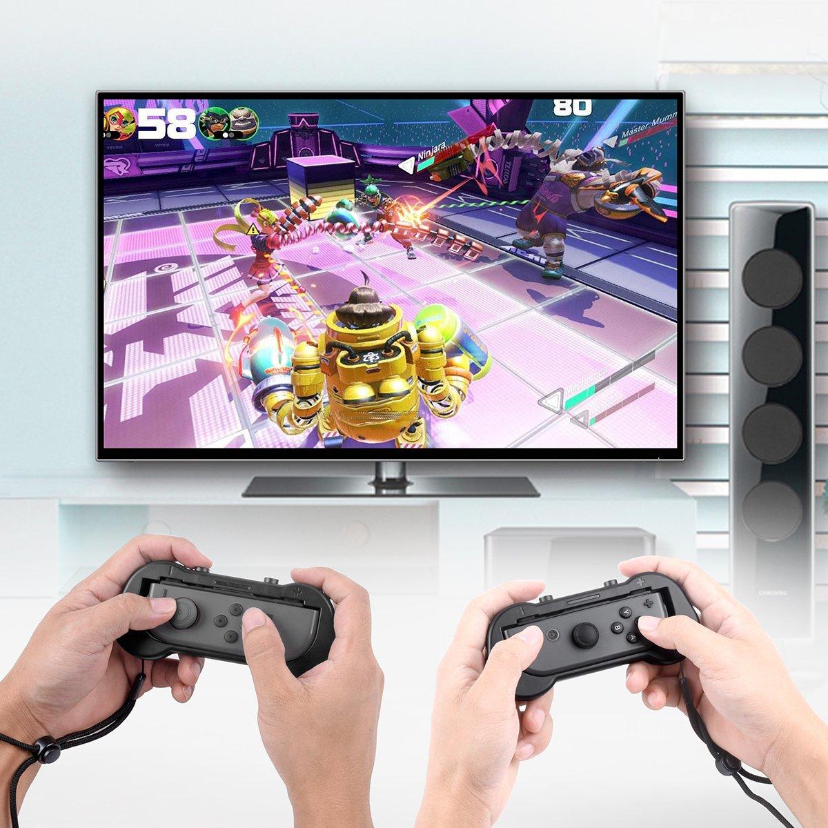 Zecti Joy-Con-Griff für Nintendo Switch, Ersatz Schutzhüllen-Kit für Joy-Con-Controller