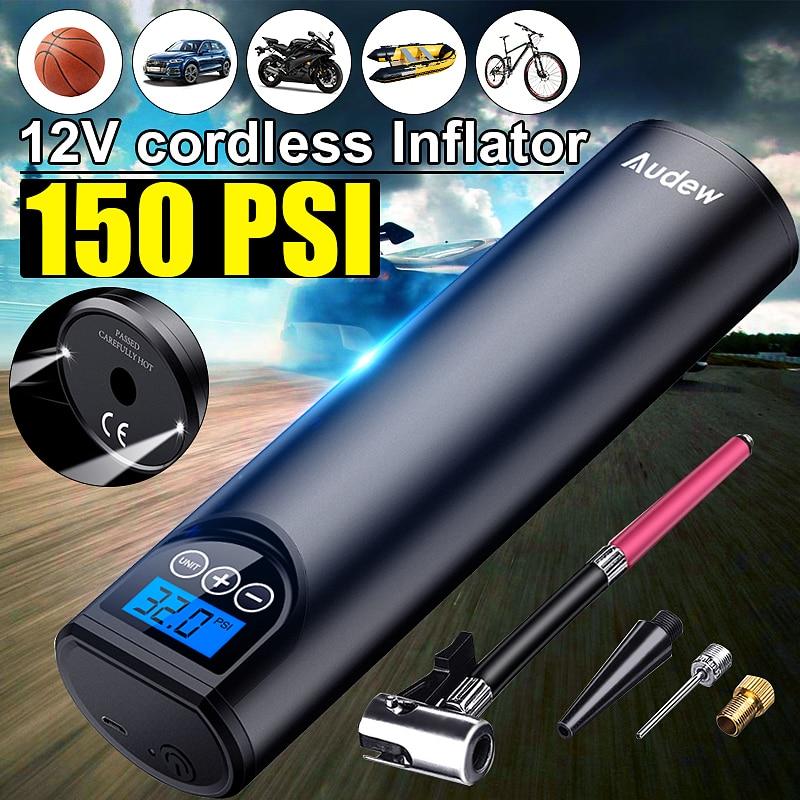 Audew 12V 150PSI USB Cordless Tragbare Luft Kompressor