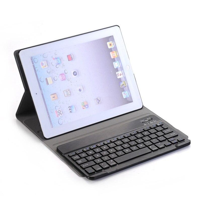 Luxus Fall für Apple iPad 2/3/4 Bluetooth Tastatur Leder Tablet Abdeckung