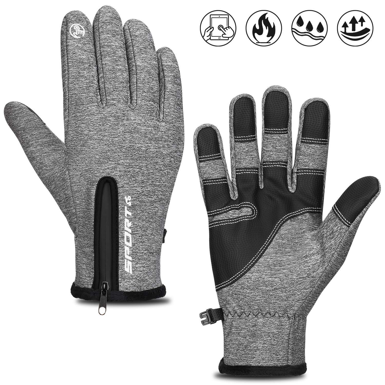 Cevapro Fahrradhandschuhe Warme Winterhandschuhe Leichte Sporthandschuhe Touchscreen Handschuhe Unisex Atmungsaktive Radhandschuhe