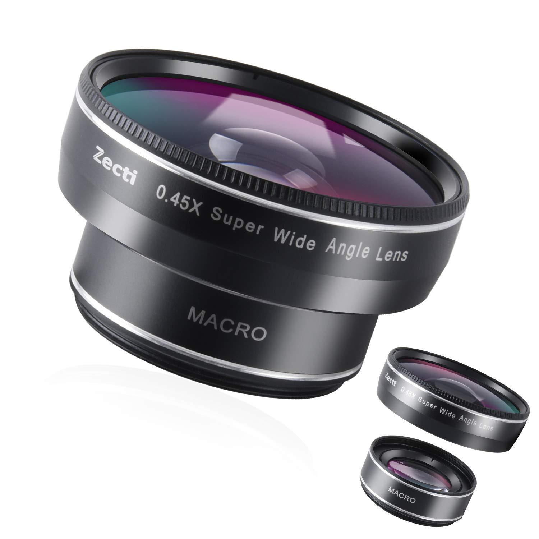 Zecti Phone Kameraobjektiv, 0.45x 120 ° Weitwinkelobjektiv 2 in 1, 10X Makroobjektiv Handyobjektiv