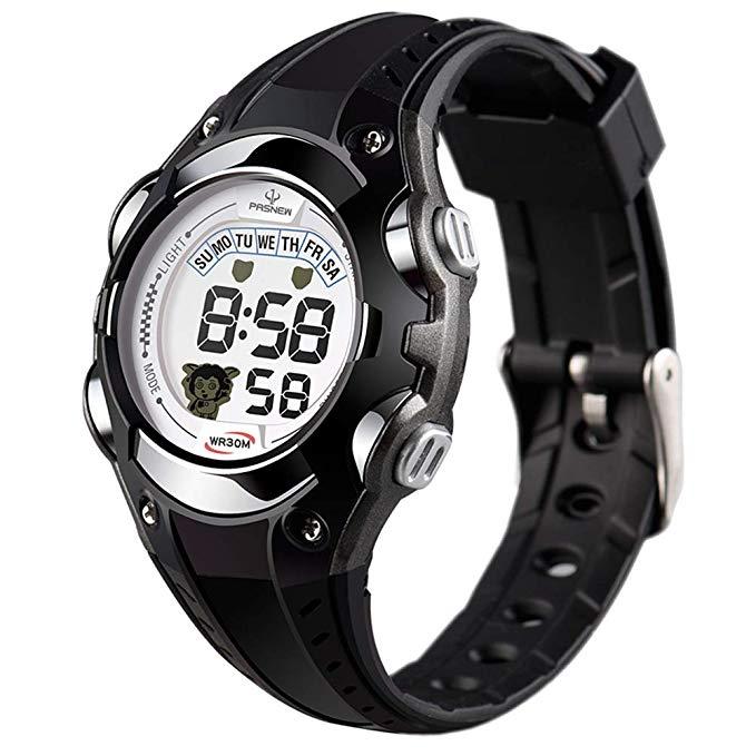XREXS Kinder und Jugendliche Armbanduhr Kinder Digital Chronograph mit Plastik Armband 328